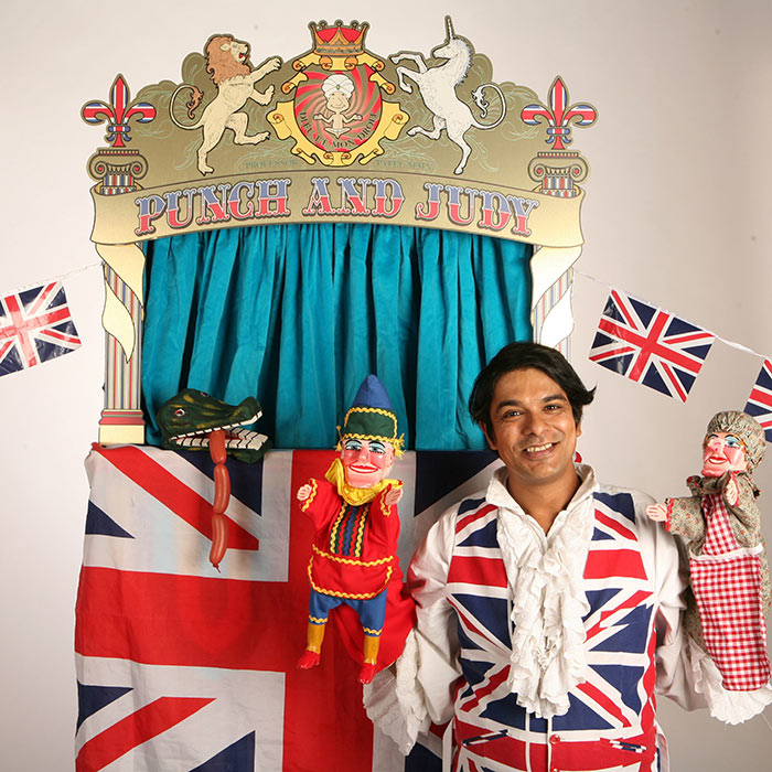 Punjeet judy-gee punch and judy act uk
