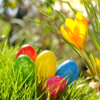 easter spring event decor