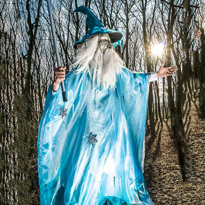 fairy gandalf stilt walking act 1