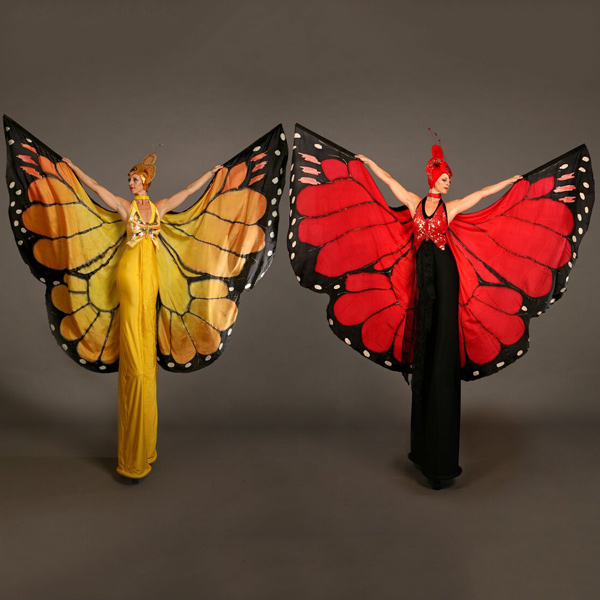 mariposa stilt walkers act