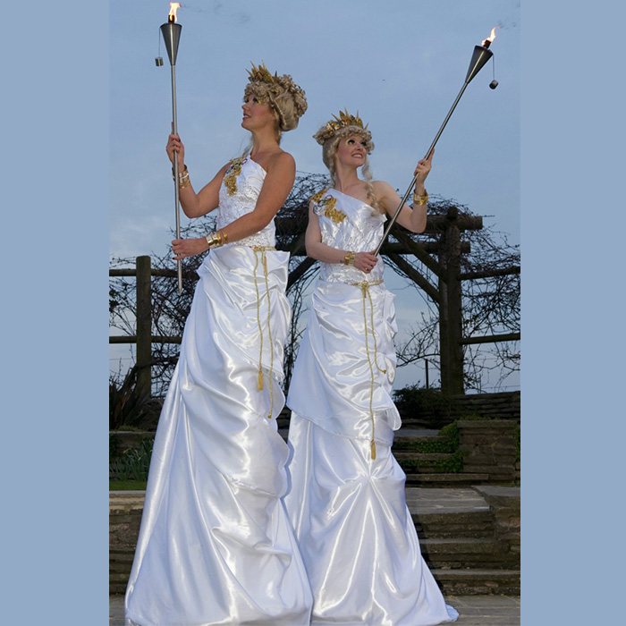 olympic-themed torch bearers act