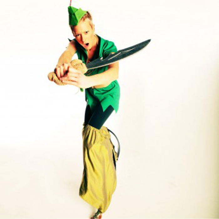 peter pan stilt walker act