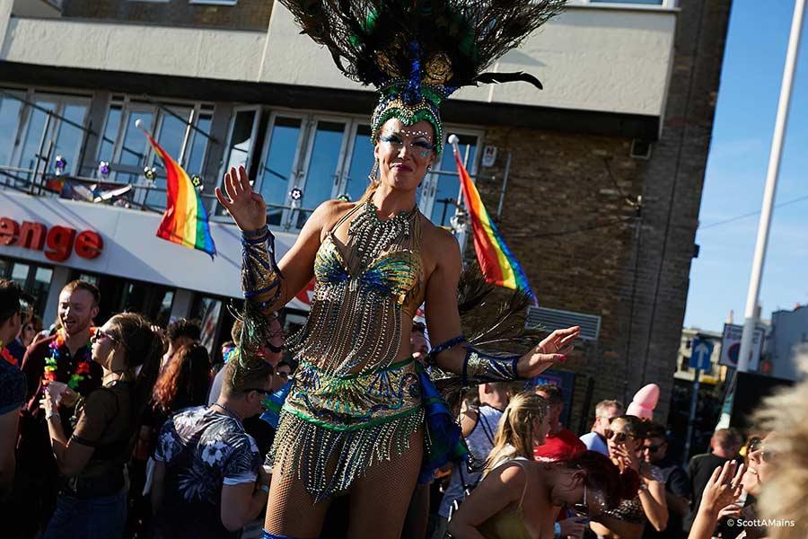 stiltwalker brighton pride 2017